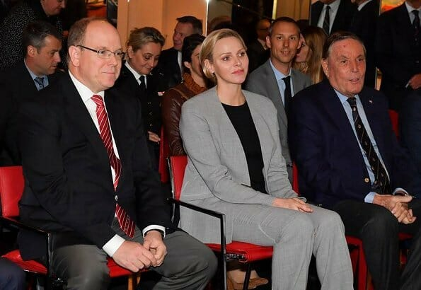Prince Albert and Princess Charlene attended the general assembly of Monegasque Road Safety Association