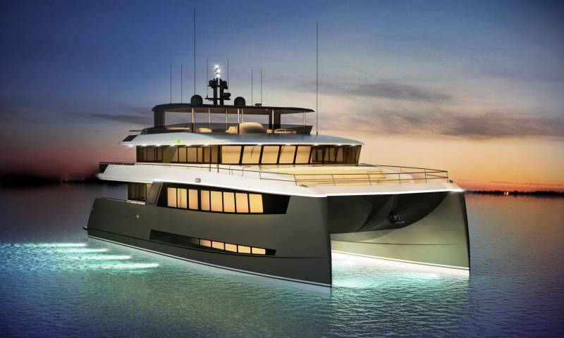 New 25-meter concept in catamaran design