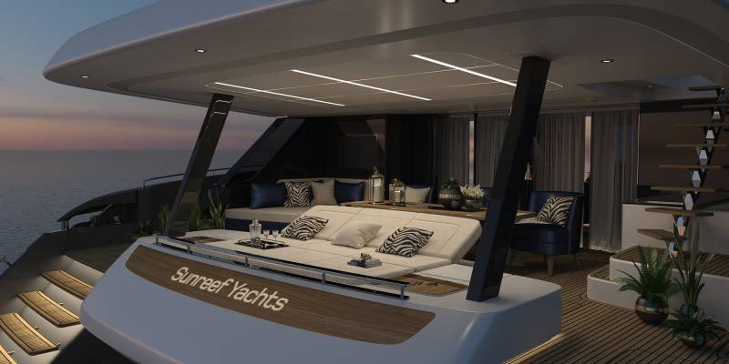 80 Sunreef Power catamaran- interior's first look