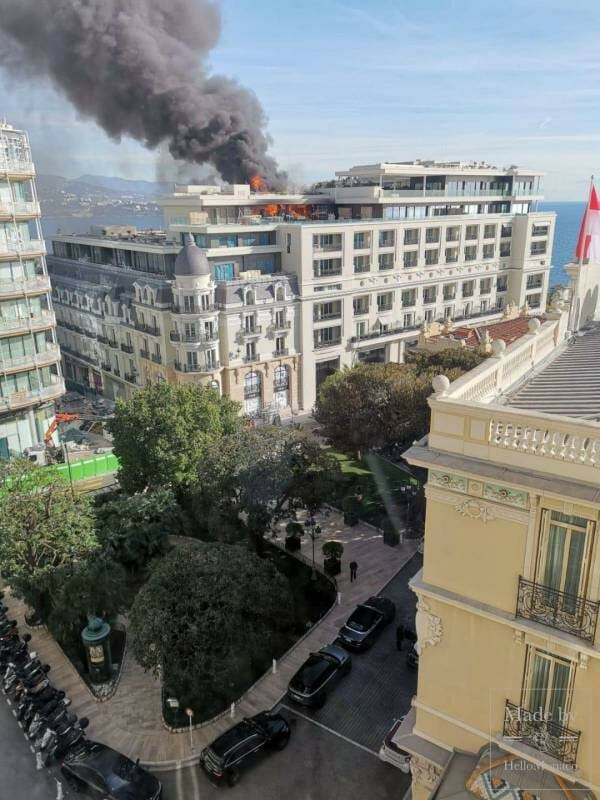 Fire at Hotel de Paris' Rooftop Triggers a Rapid Response from Firefighters