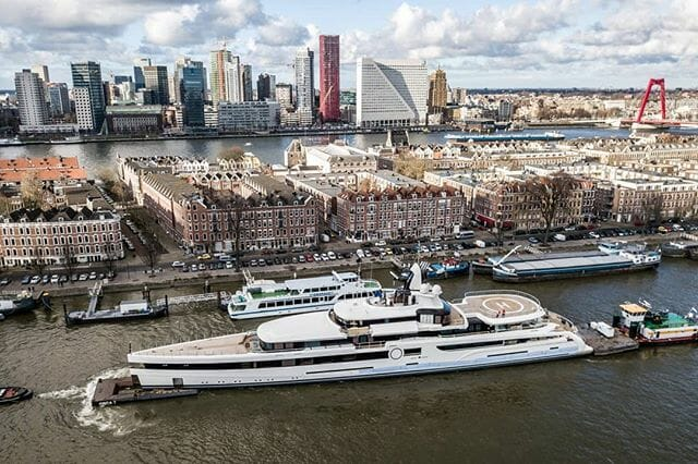 93m Feadship superyacht Lady S approaching her delivery date