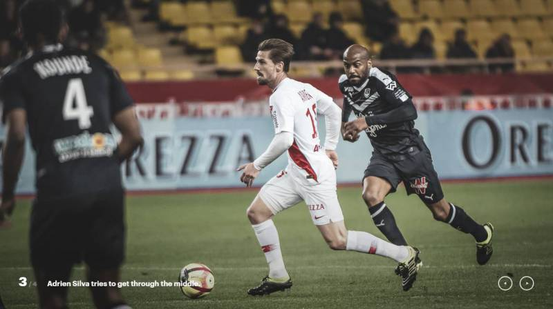 AS Monaco earns another point in a draw with Bordeaux 1-1