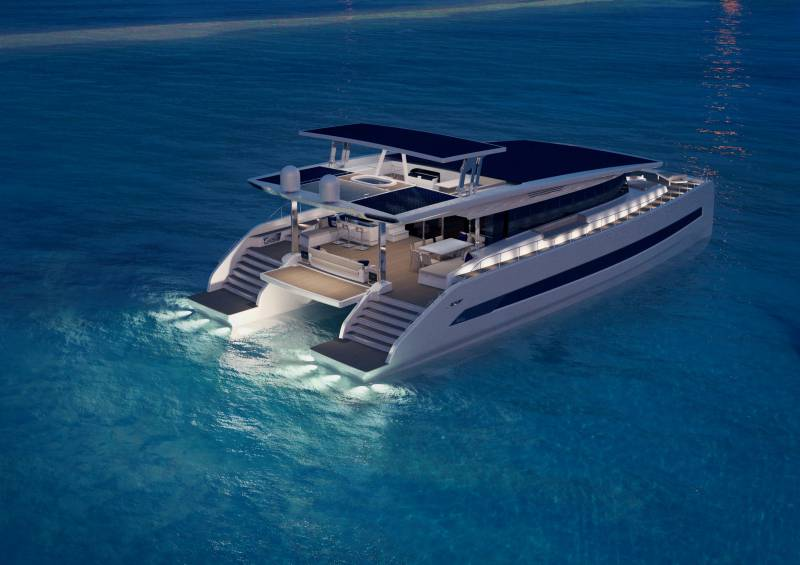 4 Silent 80 solar-engine catamarans under construction