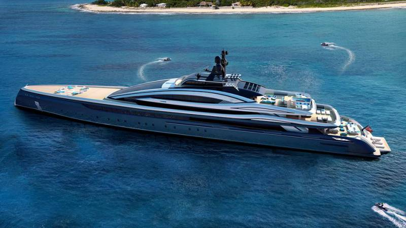 Hydro Tec 100m superyacht concept Crossbow to be built by ISA Yachts