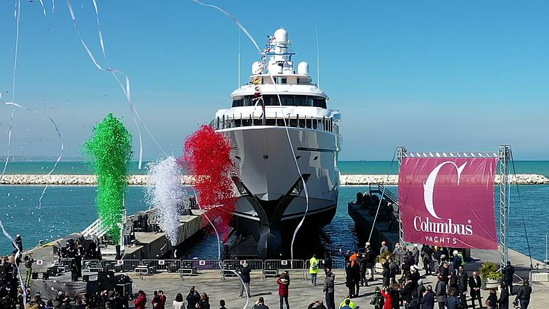 80m superyacht Dragon Columbus Yachts launches its flagship