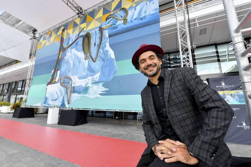 Brazilian street artist Kobra embraces the Principality eco-commitment