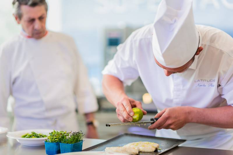 Superyacht Chefs competition at the Yacht Club de Monaco