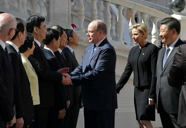 Prince Albert II and Princess Charlene hosted President Xi Jinping of China and his wife Peng Liyuan