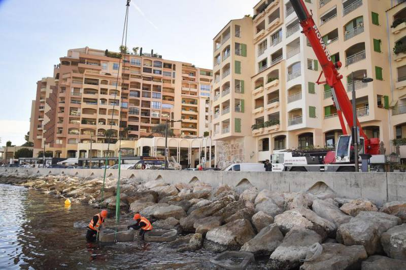 Environmental restoration programme at Port of Fontvieille