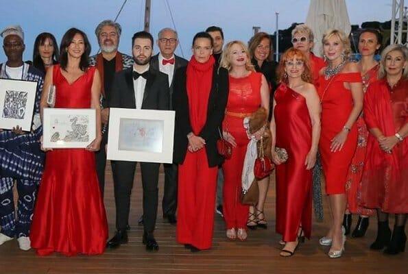 Princess Stephanie attended a gala night at Monaco Yacht Club