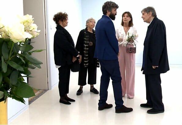 Princess Caroline visited Ettore Spalletti's Exhibition