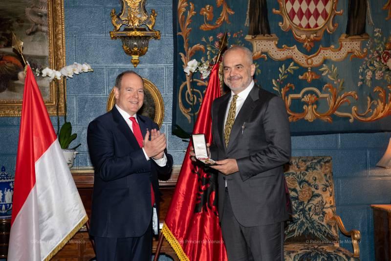 Prime Minister of Albania visits Prince Albert