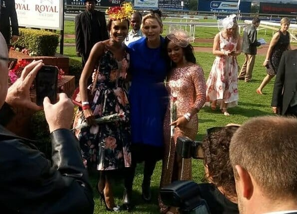 Princess Charlene attended Johannesburg Royal Race Day event