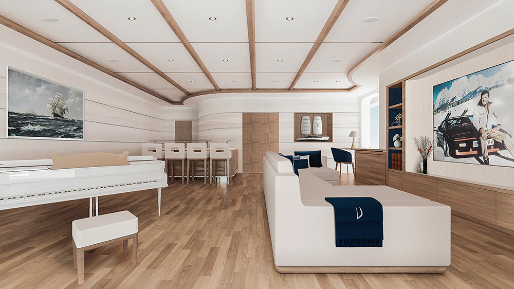 Maltese Falcon heritage- 80m futuristic sailing yacht project Vela