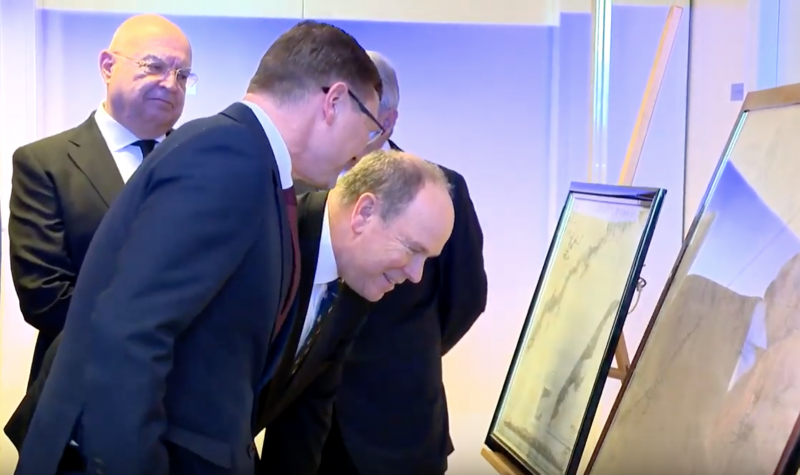 Prince Albert inaugurates Historic Sea Charts and the Mediterranean Exhibition