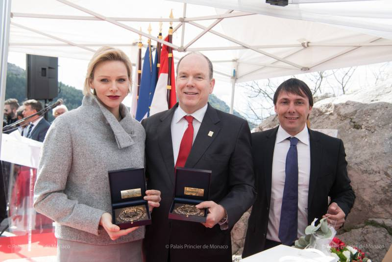 Prince Albert and Princess Charlene Honoured in Peille