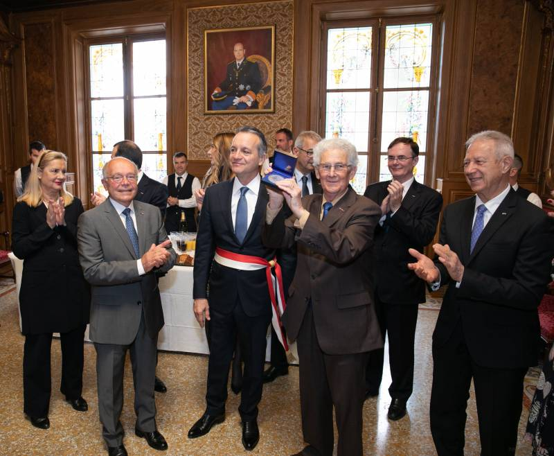 Mayor Georges Marsan is Inaugurated in City Hall