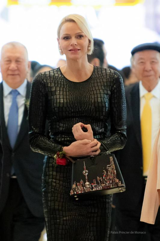 Princess Charlene opened Grace Kelly exhibition at the Galaxy Macau