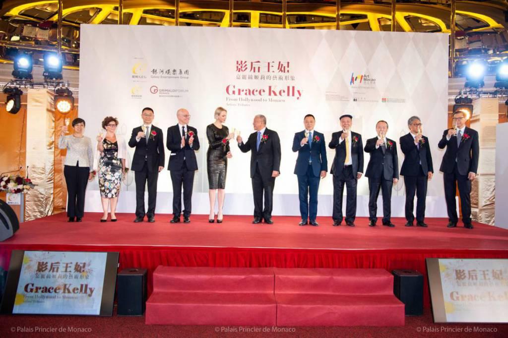 Princess Charlene opened Grace Kelly exhibition at the Galaxy Macau