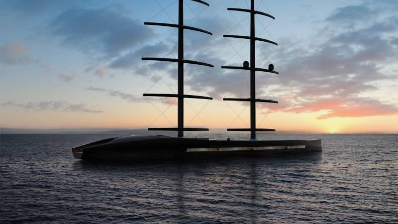 The Black Pearl code- 72m sailing yacht concept Osseo