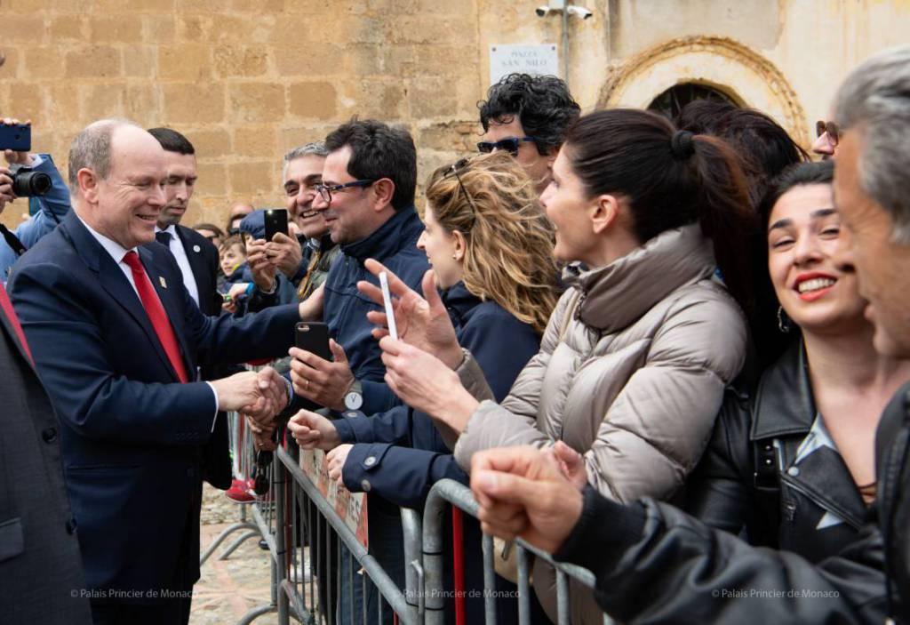 Prince Albert makes Grimaldi Historic visit to San Demetrio Corone