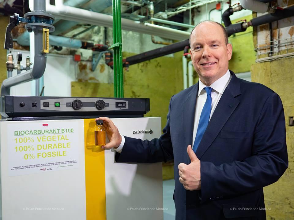 Prince's Palace now runs on Biofuel