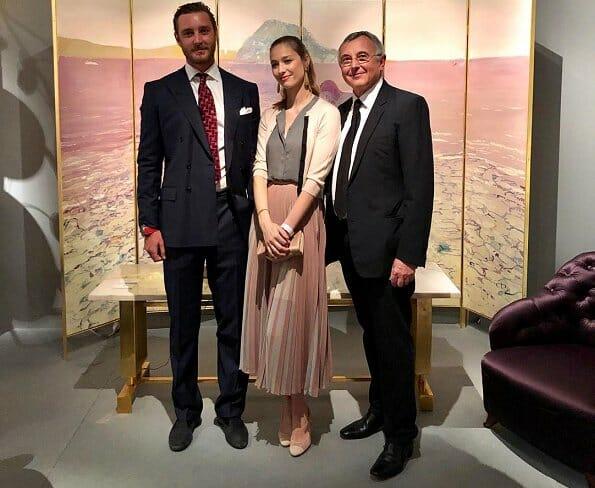 Pierre and Beatrice Casiraghi visit Monaco's PAD Fair
