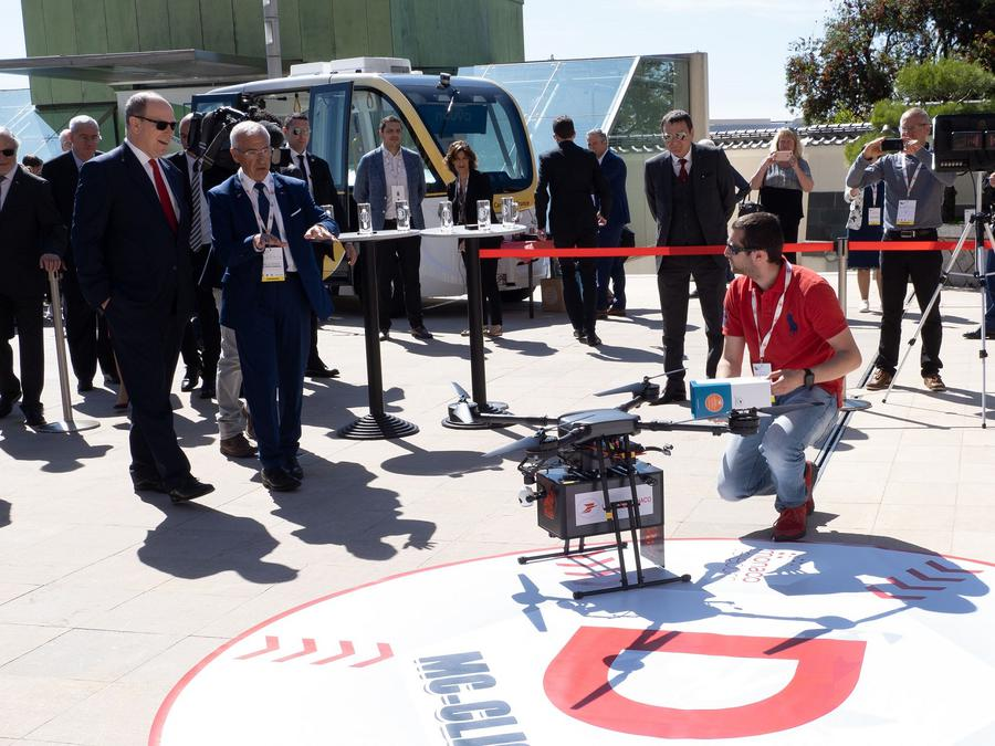 First packages delivered by Drone in the Principality