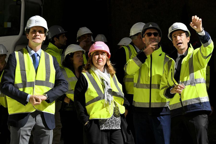 """Marie-Pierre Gramaglia Visits the """"Entrée de Ville"""" Construction Site at the Exotic Garden"""