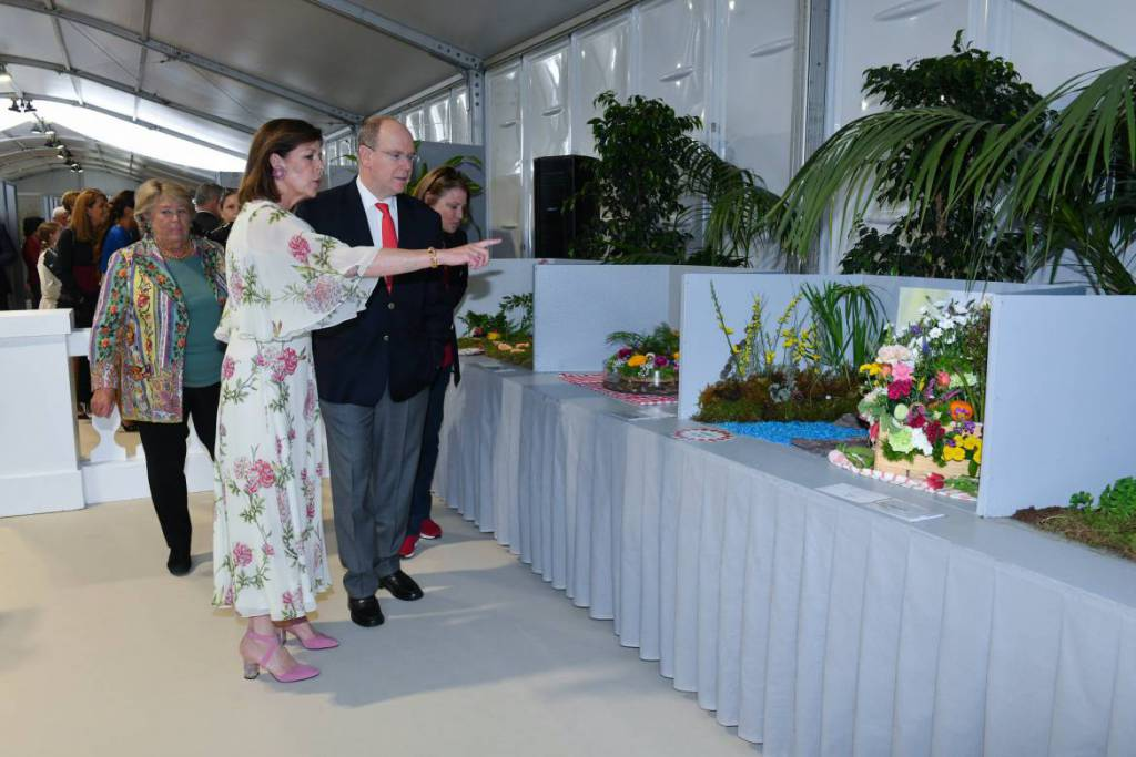 Prince Albert and Princess Caroline Bouquet Competition
