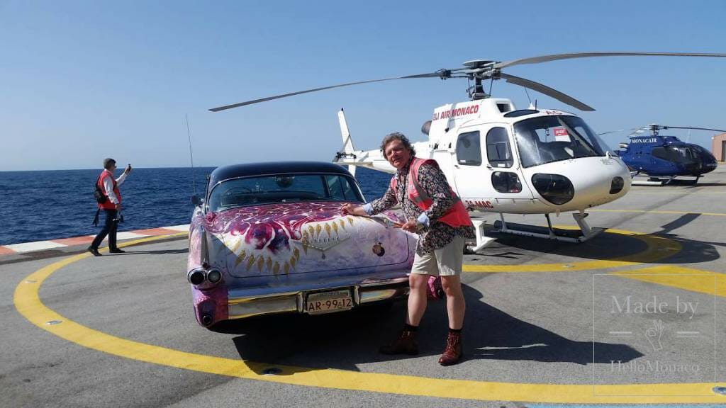 Heiko Saxo Rolling Work of Art and Queen Elizabeth in Monaco