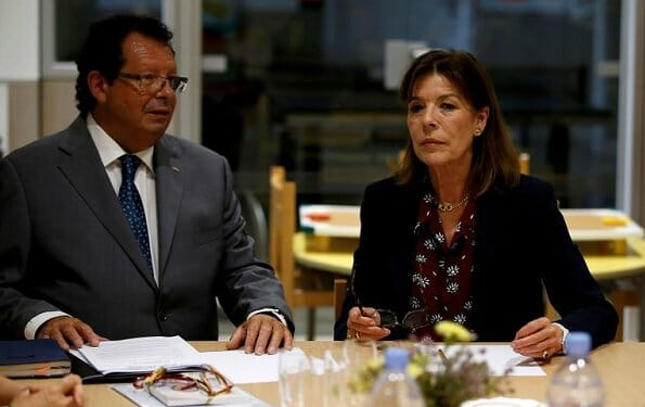 Princess Caroline attended Jeune J'écoute's Board Meeting