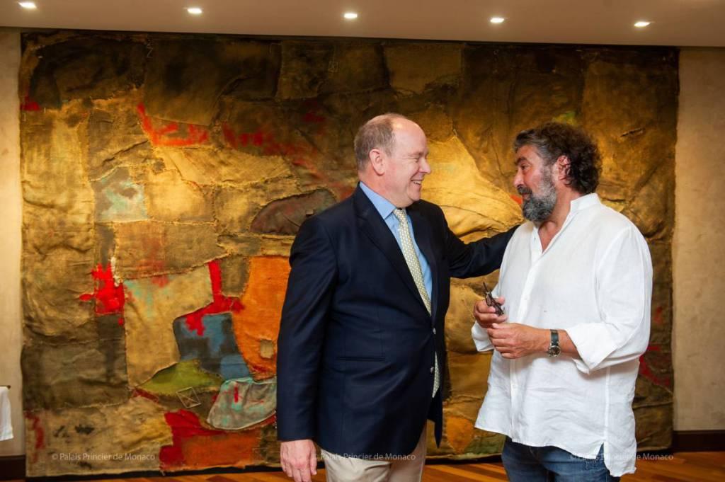 Meeting of Prince Albert with the artist Bernard Bezzina
