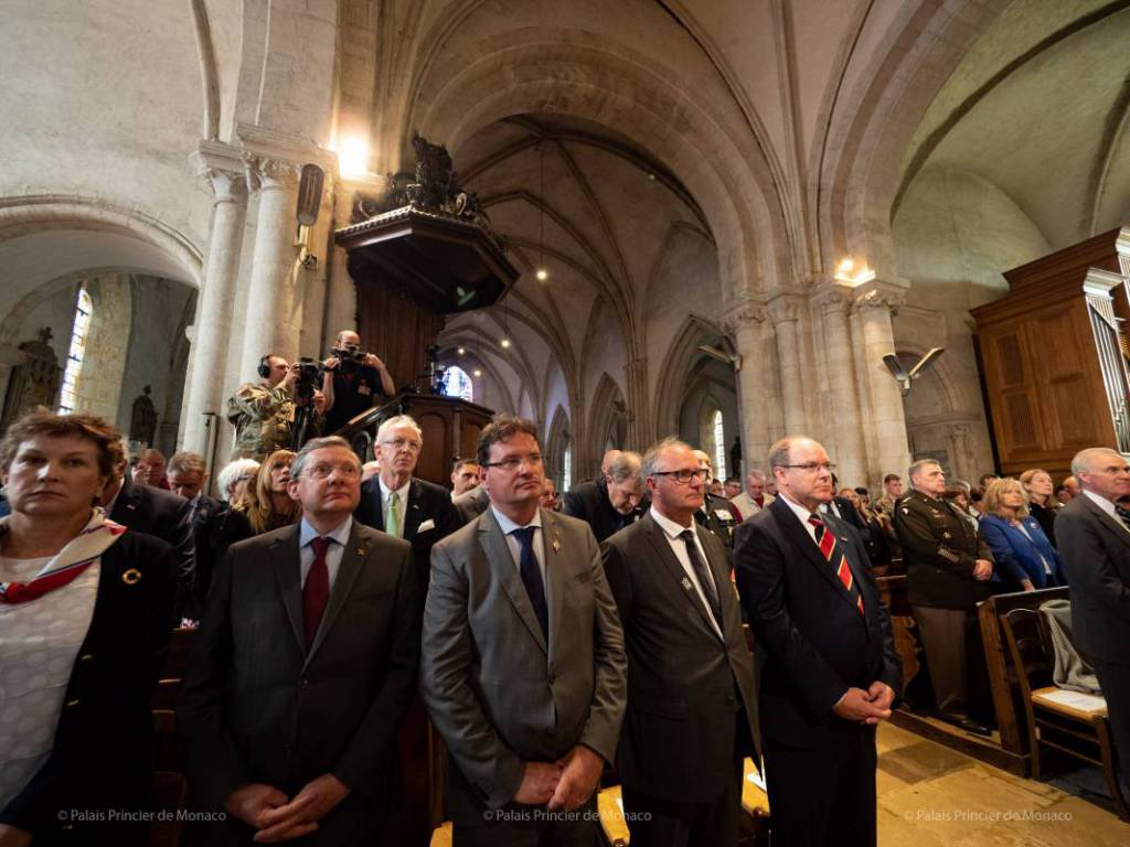 Prince Albert attends 75th Anniversary of D-Day