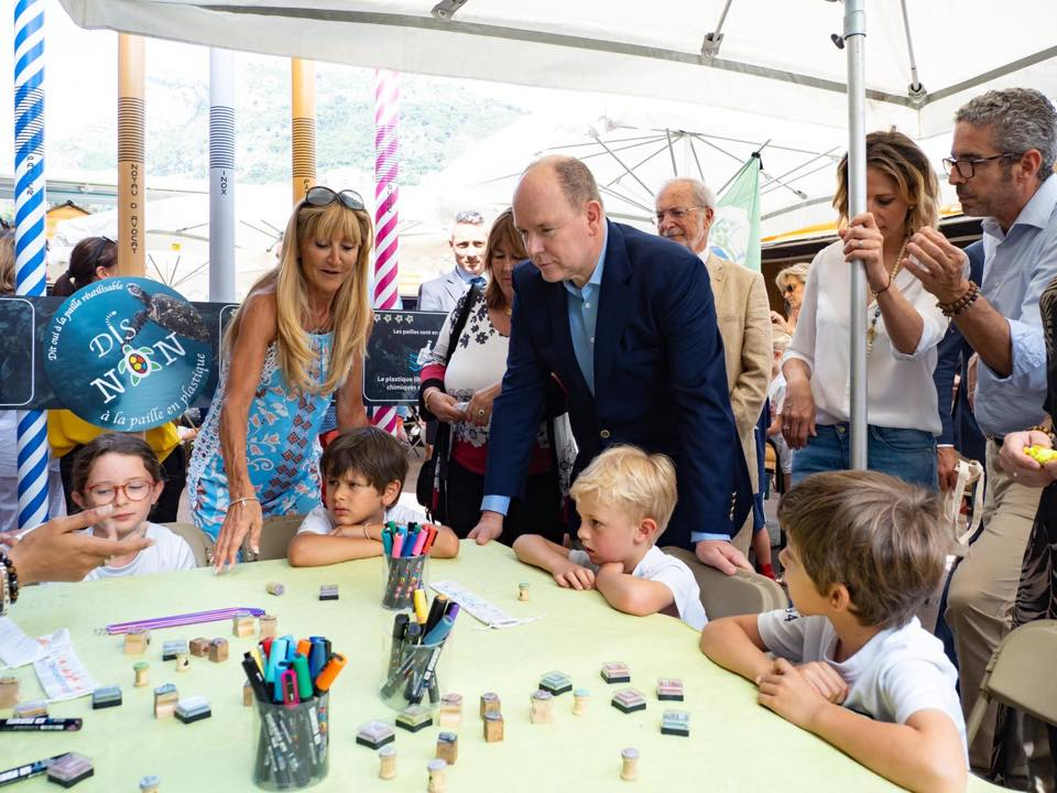 Prince Albert visits Monacology Eco-village