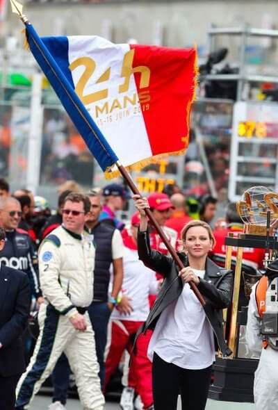 Princess Charlene signals start of 24 Hours of Le Mans
