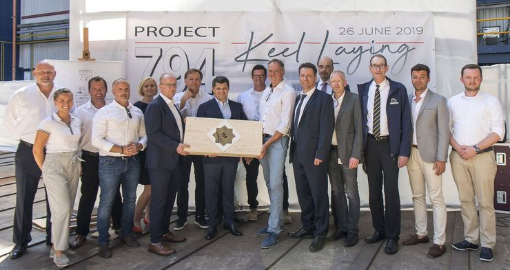 Nobiskrug lays keel on 62m Project 794 by Espen Oeino