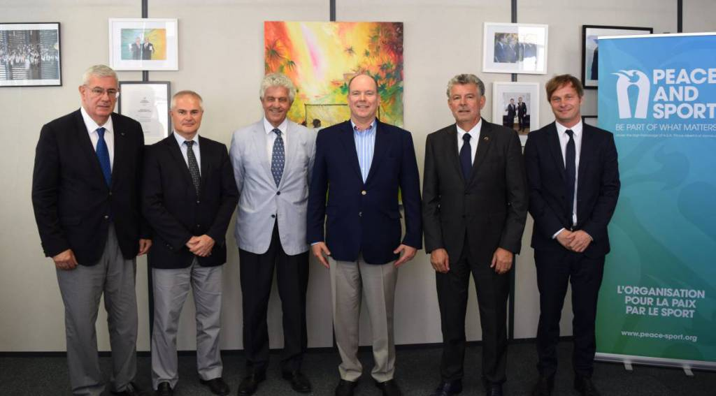 H.S.H. the Prince Albert II visits the Monaco-based organization Peace and Sport