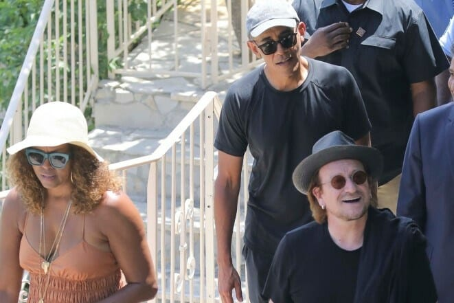 """Prince Albert And Barack Obama Dine Together """"Tete A Tete"""" At The Grill In Monte Carlo"""