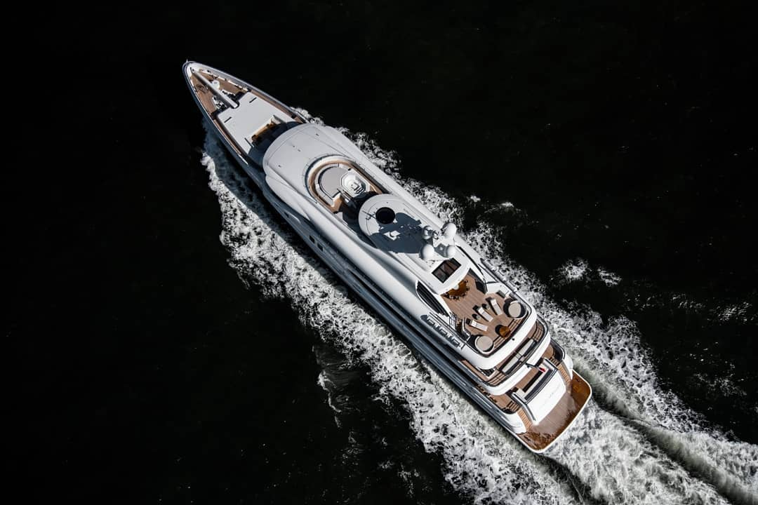 67m Amels Aurora Borealis on sea trials