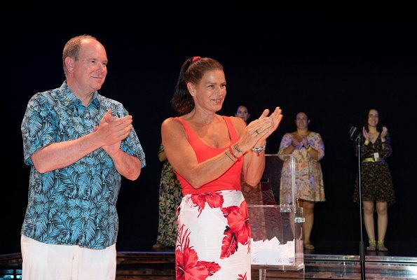 Princess Stephanie and Prince Albert attended a gala held for 15th anniversary of Fight Aids Monaco