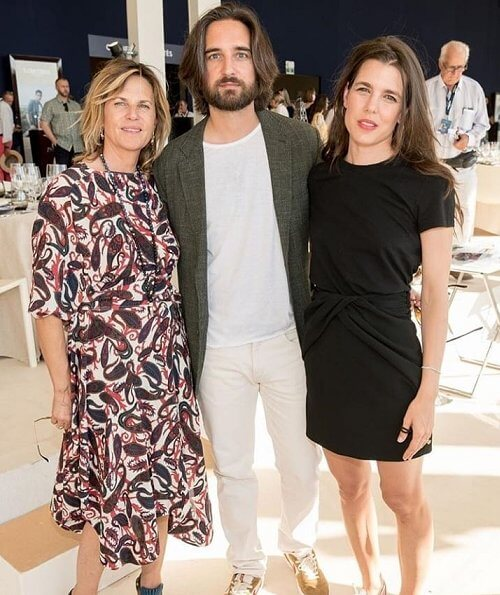 Charlotte Casiraghi and Dimitri attend the Longines Paris Eiffel Jumping Show in Paris
