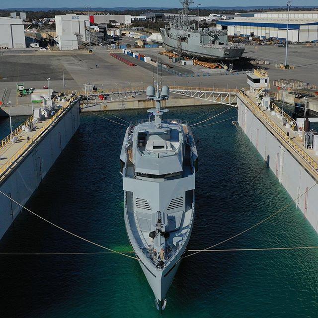 The largest Australian superyacht- 85m explorer Bold delivered