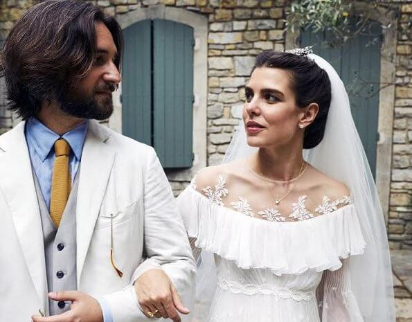 Charlotte Casiraghi and Dimitri Rassam got married in a religious wedding ceremony
