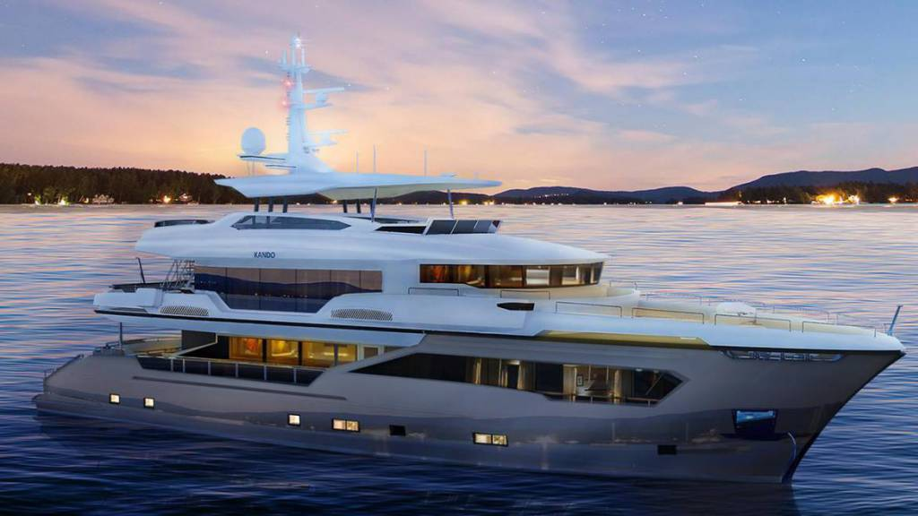 35m Kando explorer yacht for NBA star Tony Parker takes shape