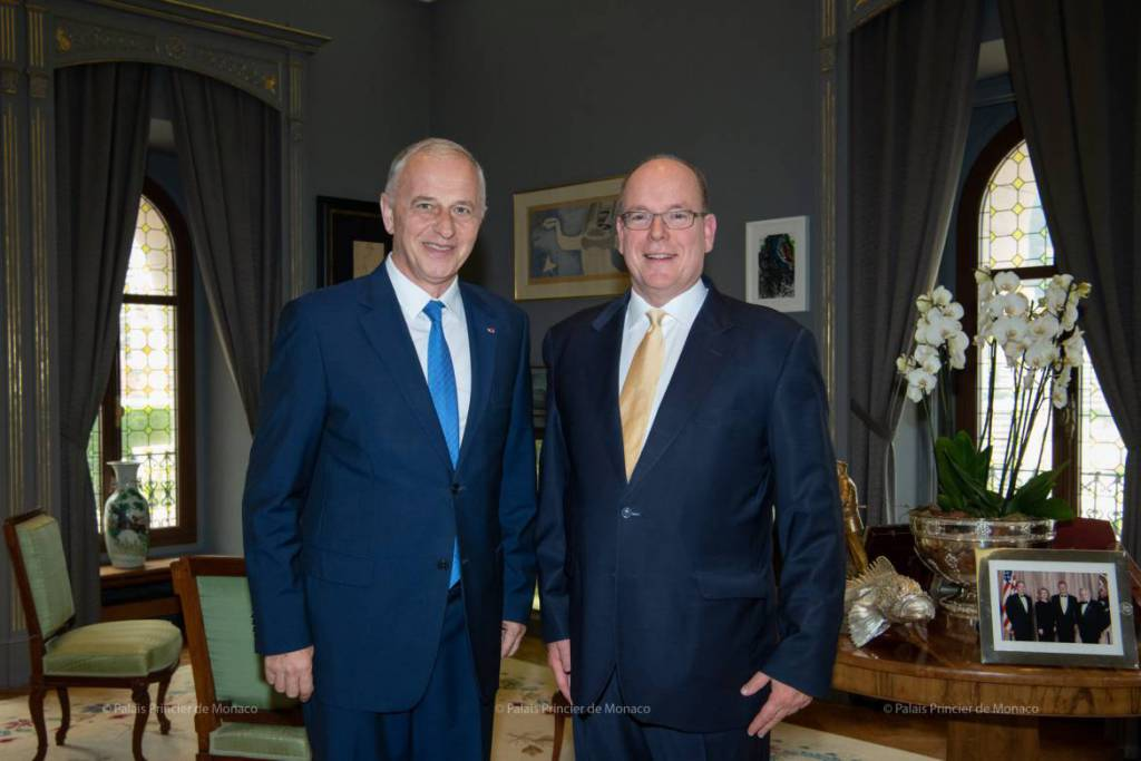 Prince Albert meets NATO's Newly Appointed Secretary General