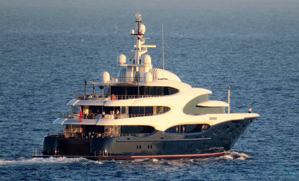 Billionaire's EUR 165 million superyacht Barbara spotted in Monaco