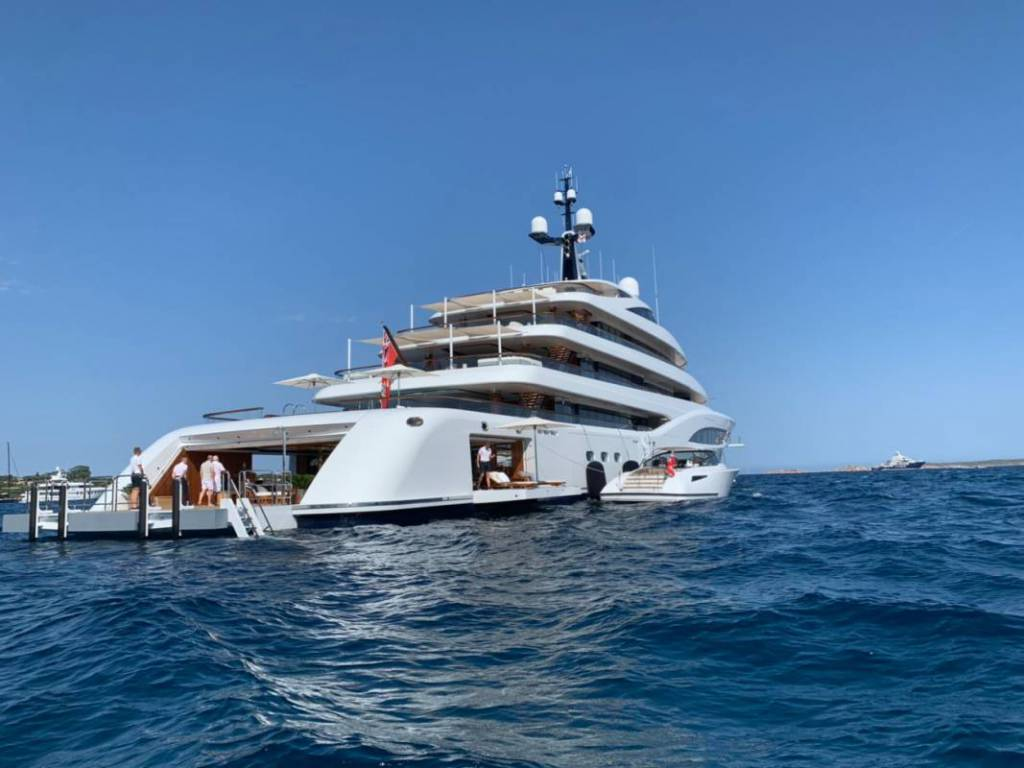 Canadian billionaire's 96m superyacht Faith spotted in Sardinia