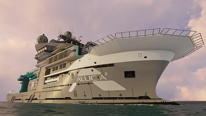 Name of the 85m OceanX explorer superyacht Alucia 2 brought to a vote