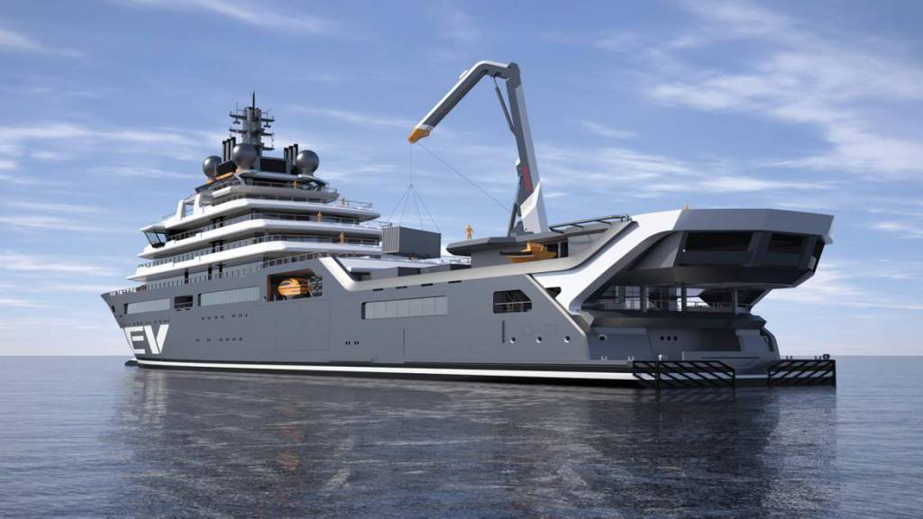 REV the largest superyacht in the world ready for technical launch